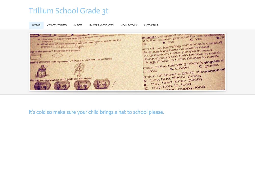 Grade 3T: trilliumschool3t.weebly.com