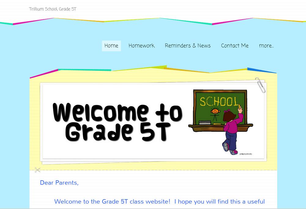 Grade 5T: trilliumschool5t.weebly.com